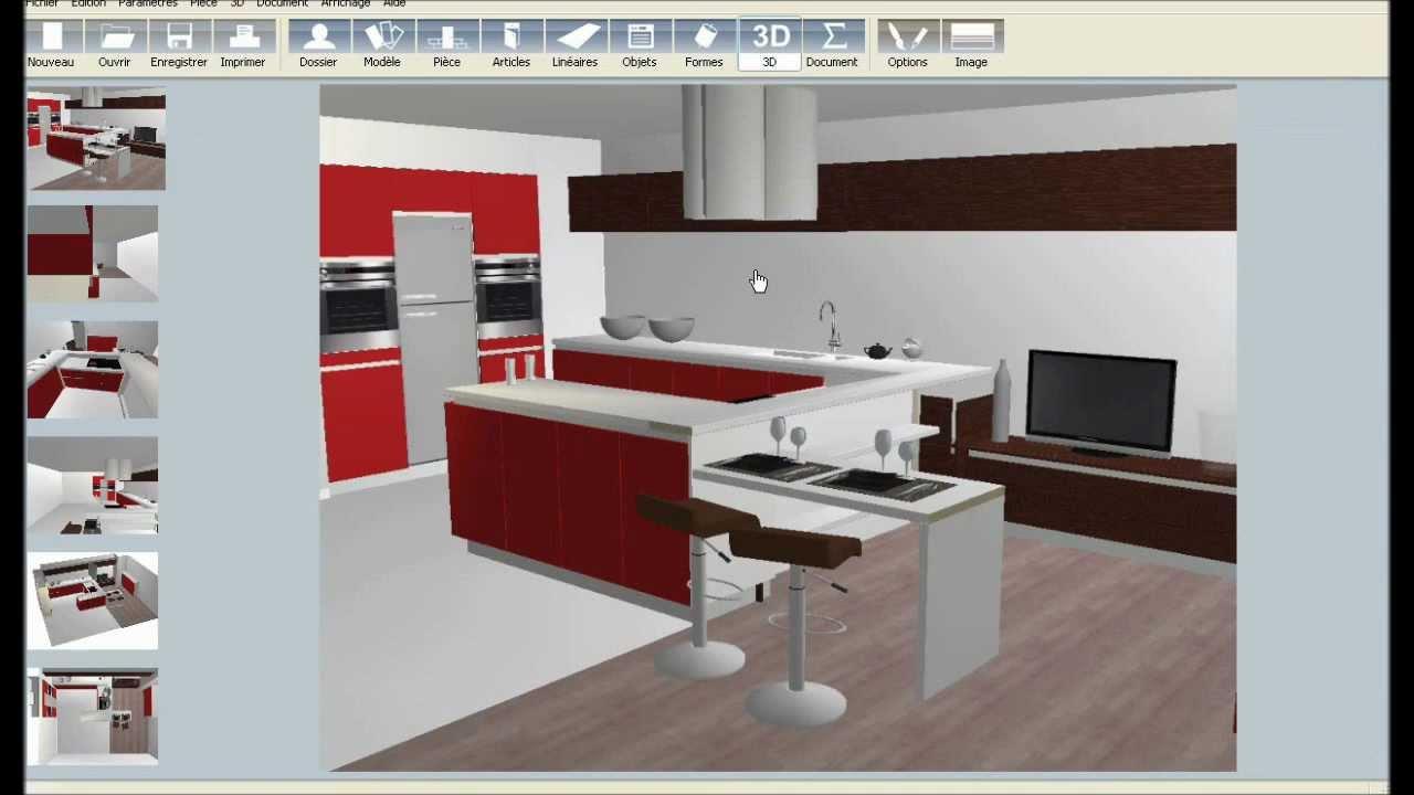 logiciel dessin cuisine 3d gratuit. Black Bedroom Furniture Sets. Home Design Ideas