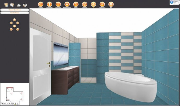 logiciel dessin salle de bain 3d gratuit. Black Bedroom Furniture Sets. Home Design Ideas