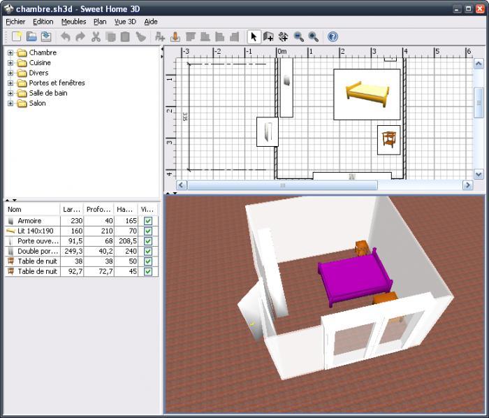 logiciel pour cr er une piece en 3d. Black Bedroom Furniture Sets. Home Design Ideas