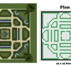 Minecraft plan de construction maison