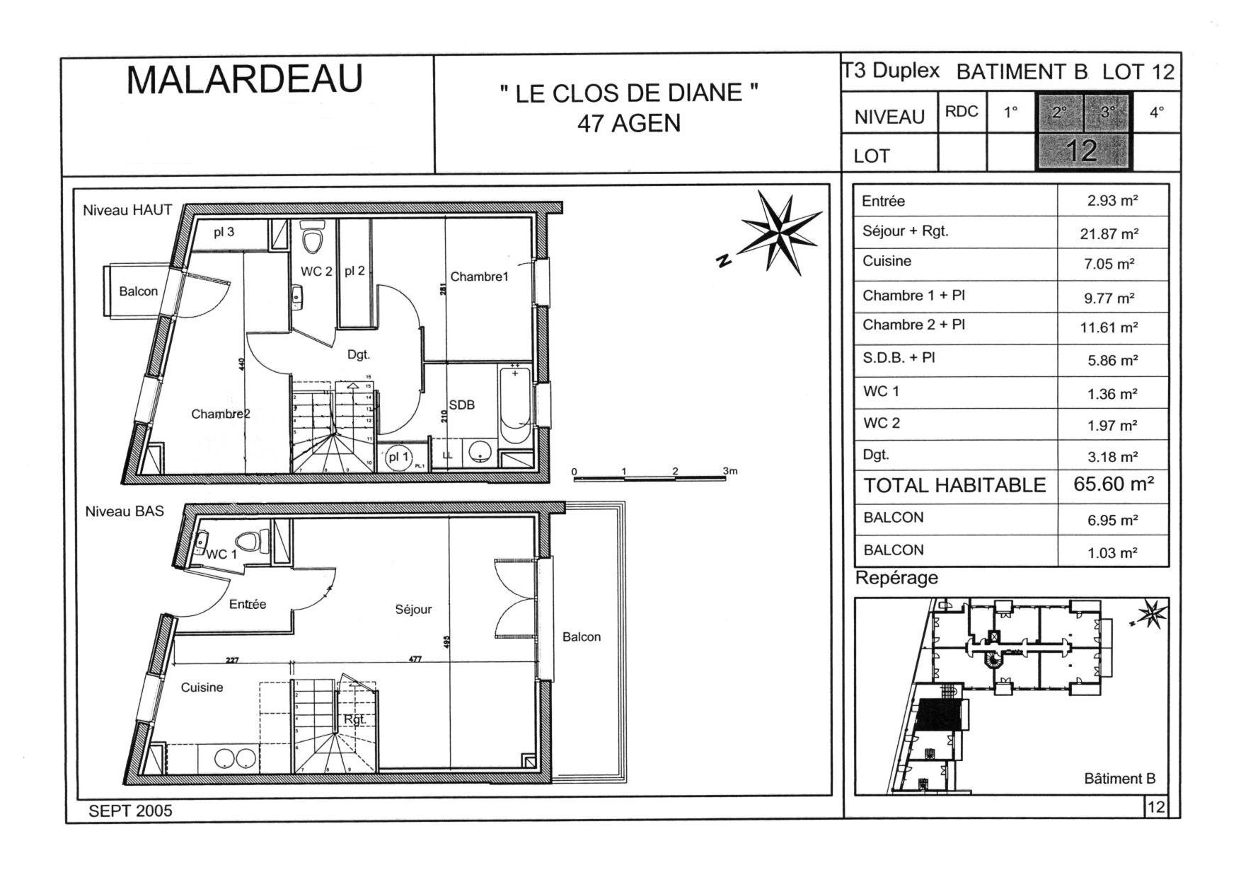 Plan appartement duplex for Plan maison duplex
