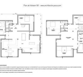 Plan architecte maison contemporaine