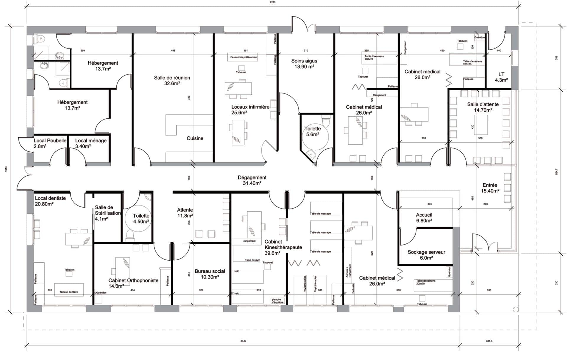 Plan architecturale de maison for Plan maison design