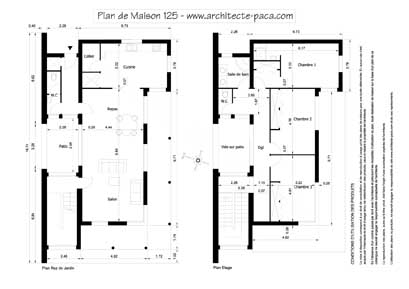 Plan d architecture villa moderne for Plan d architecture