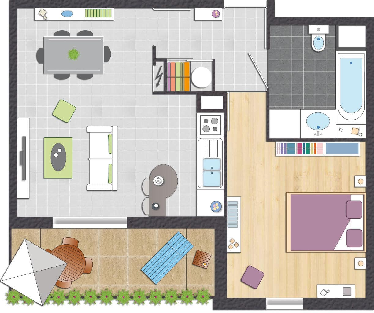 Plan d un appartement for Faire un plan d appartement