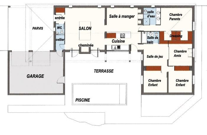 plan de maison d architecte contemporaine gratuit. Black Bedroom Furniture Sets. Home Design Ideas