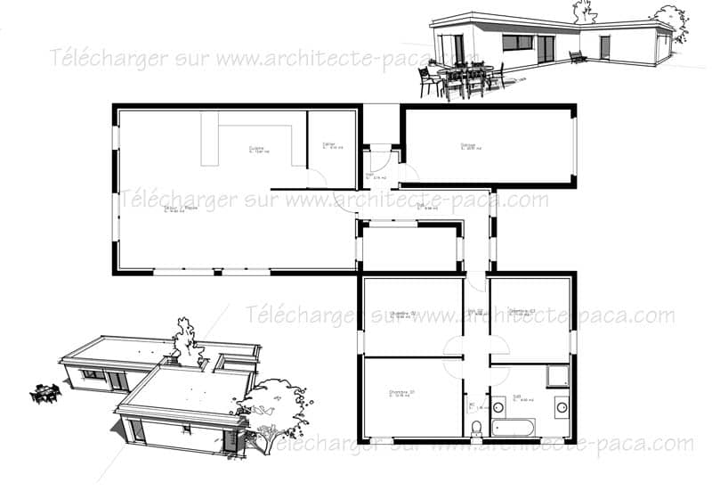 plan de maison d architecte gratuit. Black Bedroom Furniture Sets. Home Design Ideas