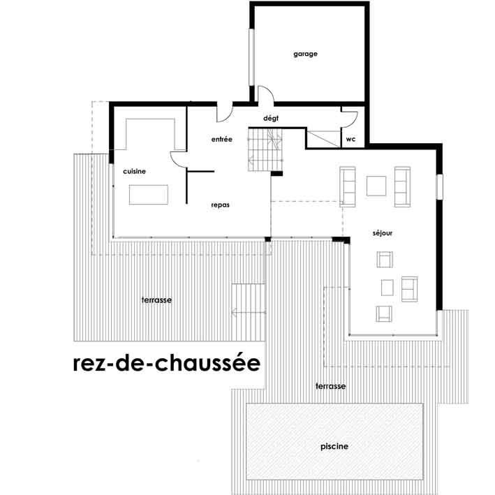 plan maison architecte toit plat. Black Bedroom Furniture Sets. Home Design Ideas