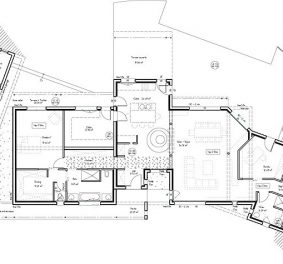 Plan villa architecte