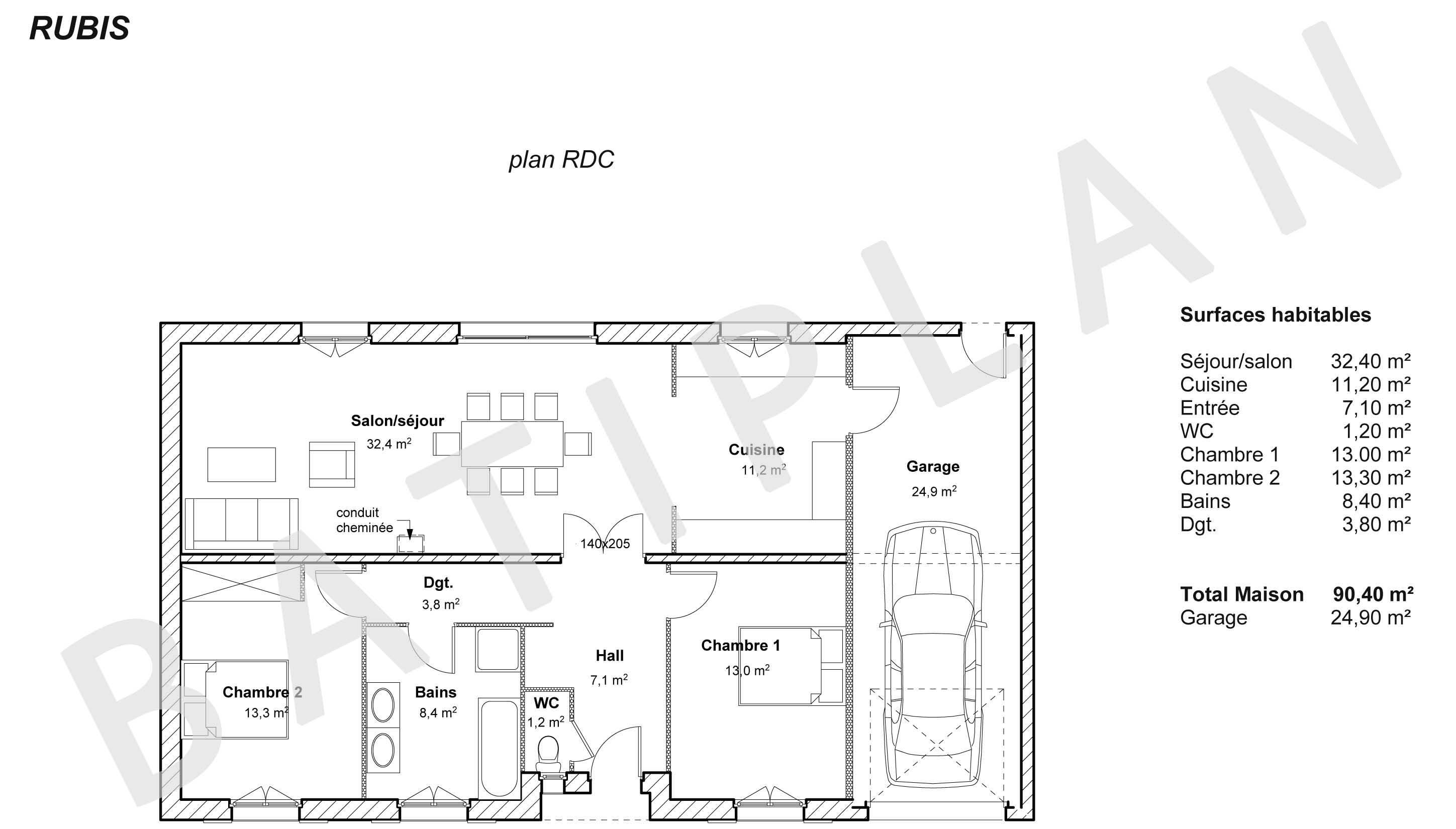 Plans de construction maison gratuit for Plan maison construction