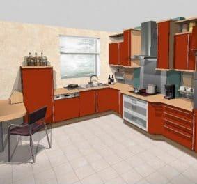 Plans de cuisine en 3d