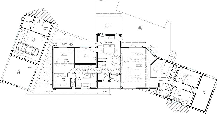 Plans de maisons d architecte for Villa maison plans photos