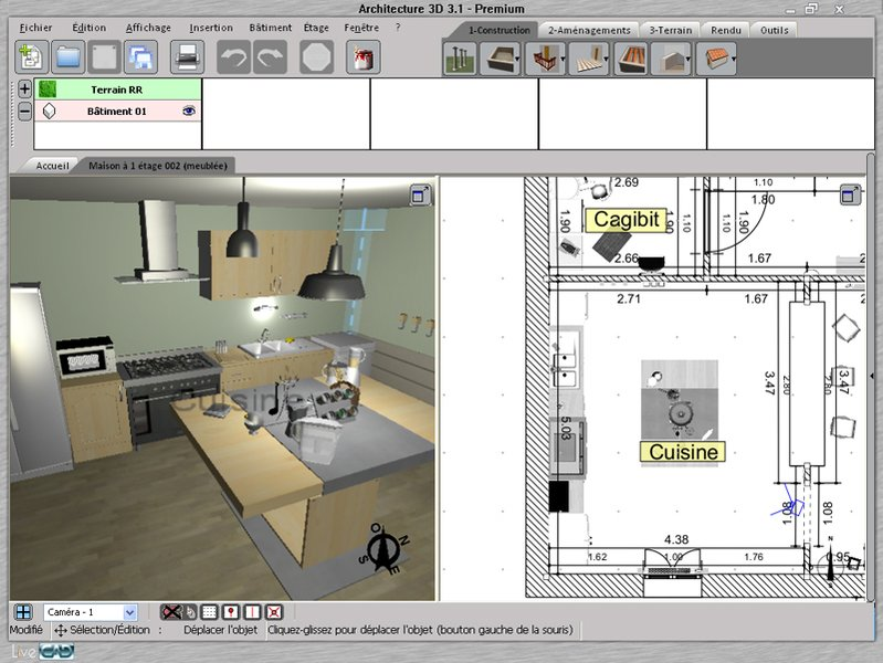 Programme 3d architecture gratuit for Plan architecte logiciel