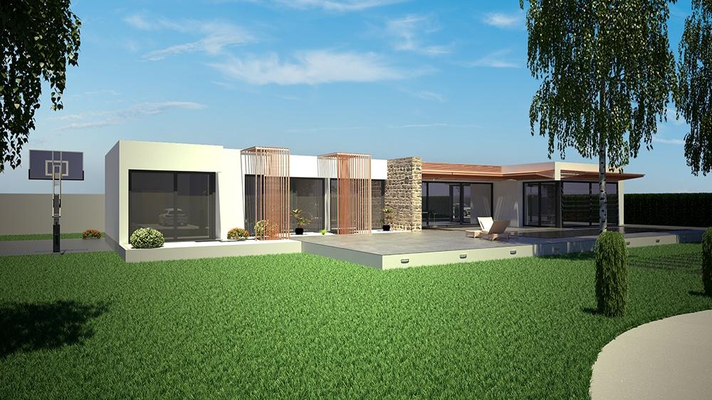 Projet architecte maison for Projet 3d maison