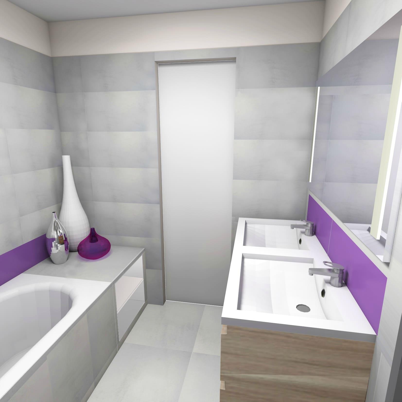 Realisation salle de bain 3d for Plan salle de bain 3d