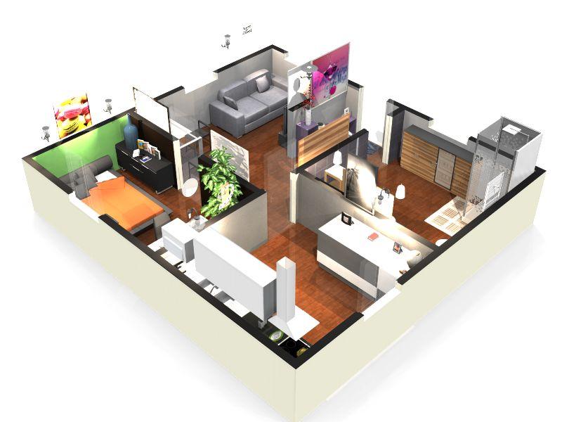 realiser un plan en 3d. Black Bedroom Furniture Sets. Home Design Ideas