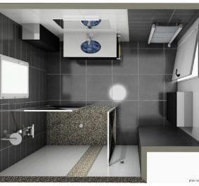 Salle de bain plan 3d