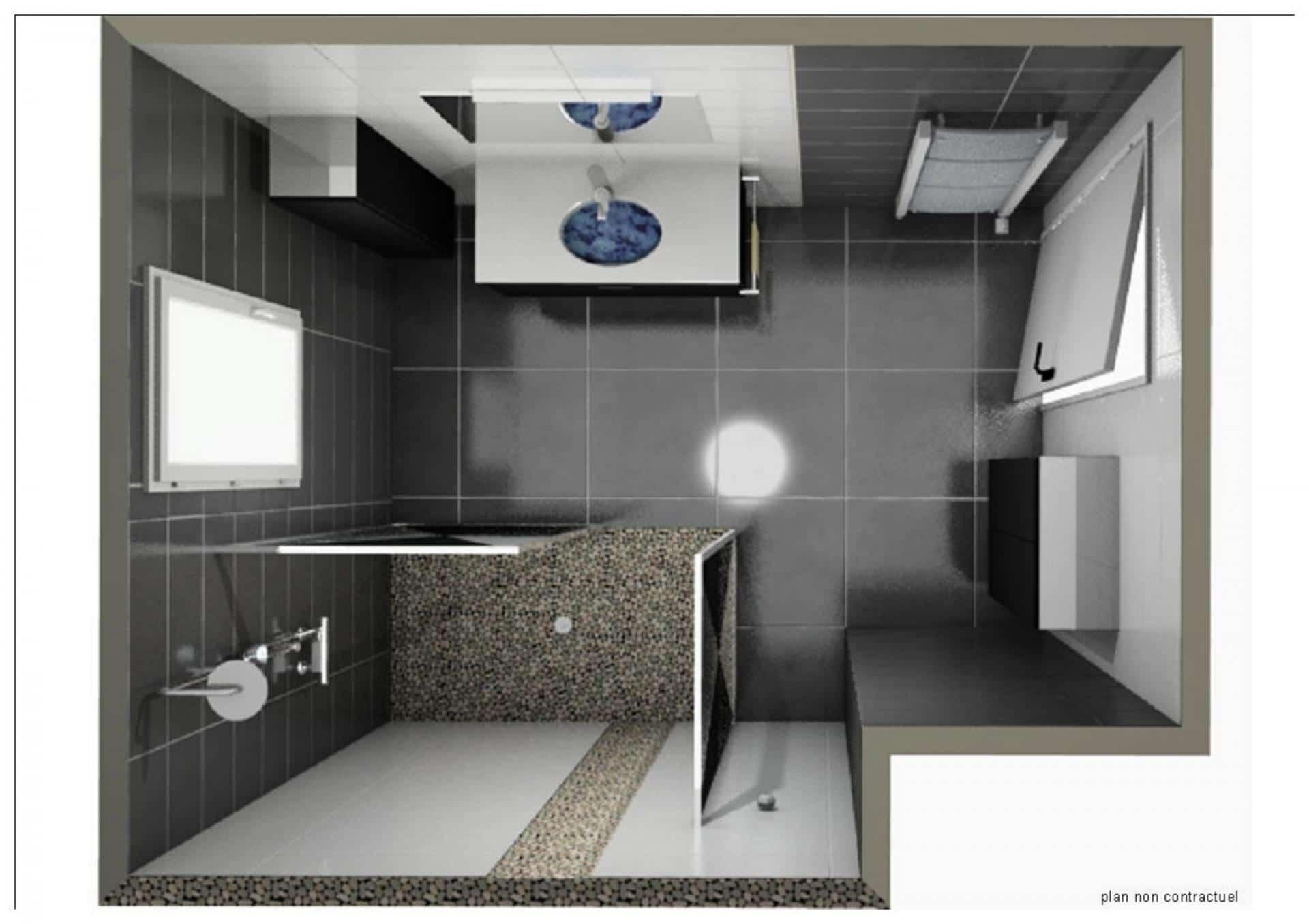 salle de bain plan 3d. Black Bedroom Furniture Sets. Home Design Ideas