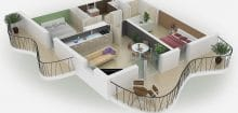 Simulation 3d appartement