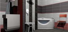 Simulation 3d salle de bain