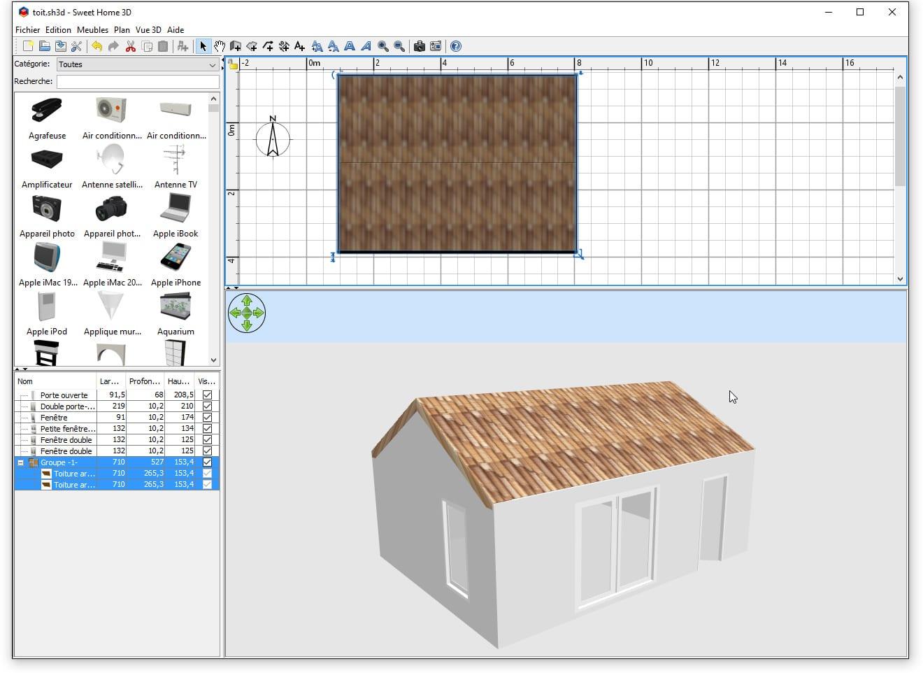 toiture sweet home 3d. Black Bedroom Furniture Sets. Home Design Ideas
