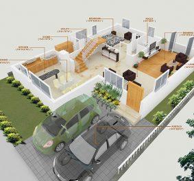 Villa plan 3d