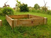 carré de jardin en palette