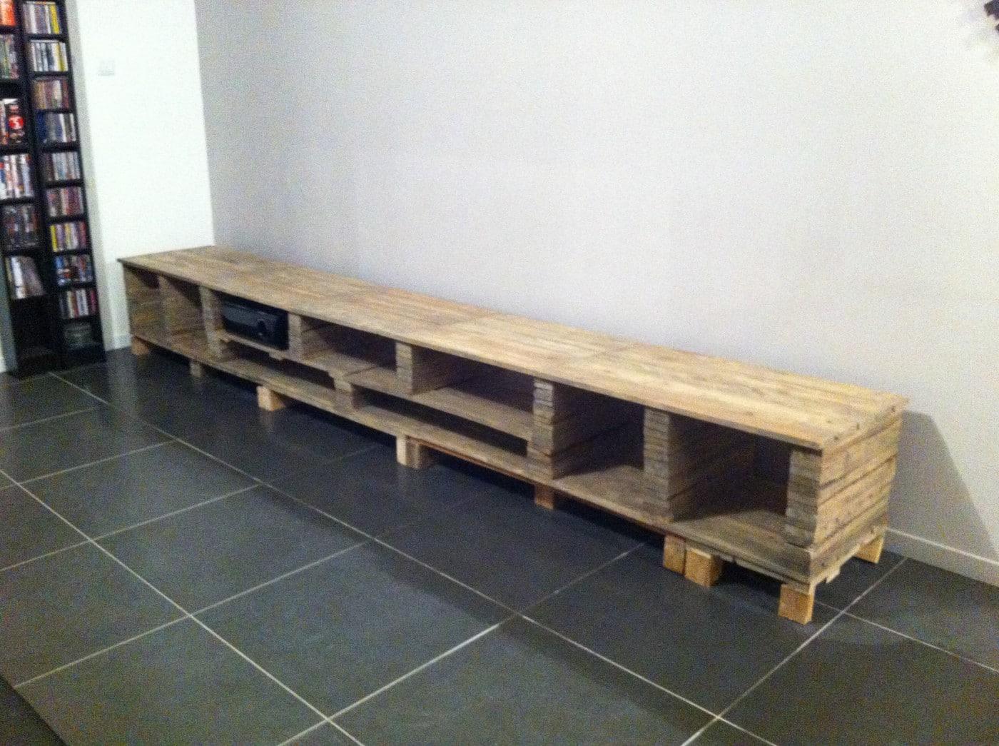 Construire meuble palette - Meuble fabrique avec des palettes ...