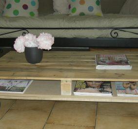 Faire table basse en palette