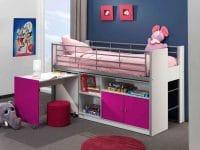 lit mezzanine avec bureau enfant