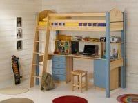 lit mezzanine enfant bois