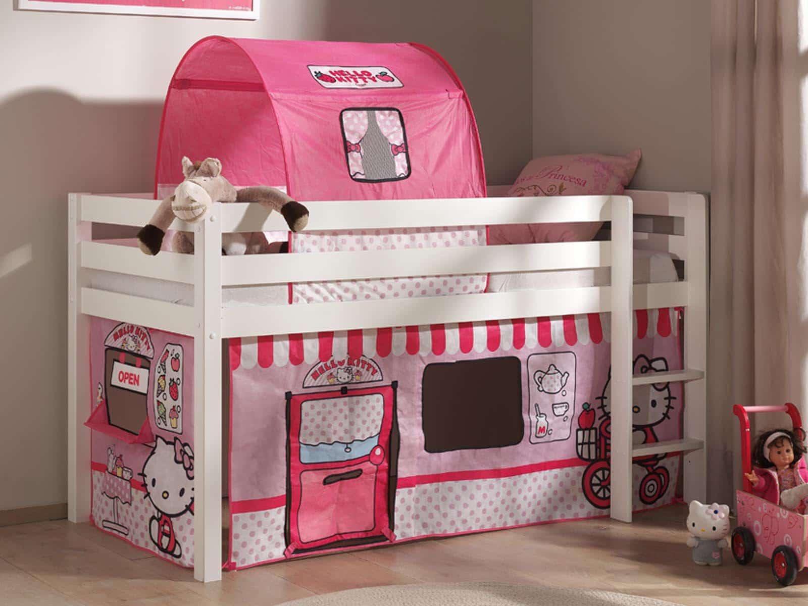 lit mezzanine enfant fille. Black Bedroom Furniture Sets. Home Design Ideas