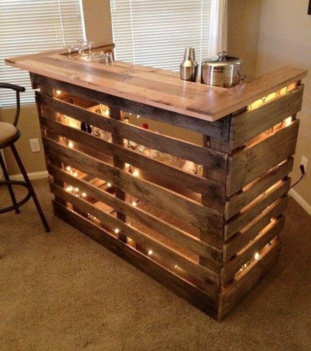 meuble bar en palette