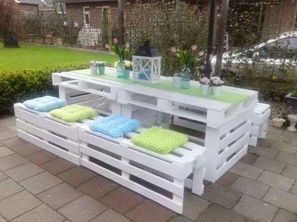 meuble jardin en palette