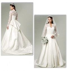 patron robe de mariée