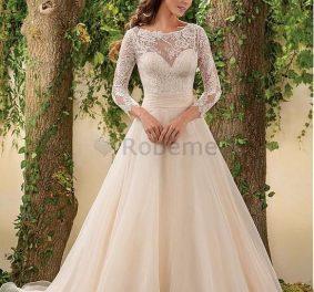 Robe de mariée avec manche