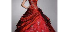 Robe de mariée bordeaux