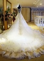 robe de mariée de princesse de luxe
