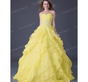 Robe de mariée jaune