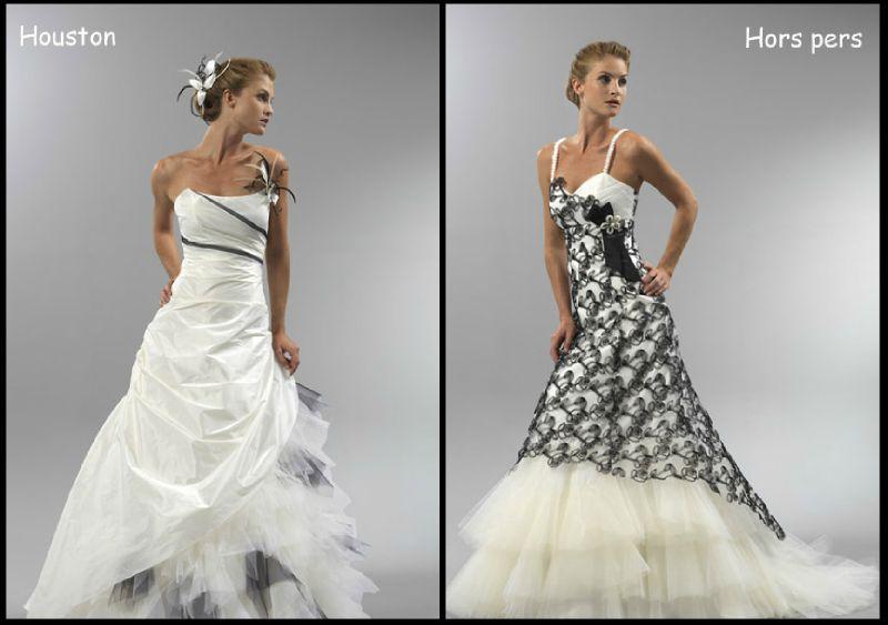 robe de mariée noire et blanche