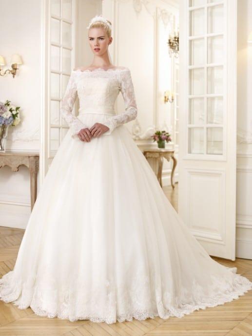 robe mariée manche longue