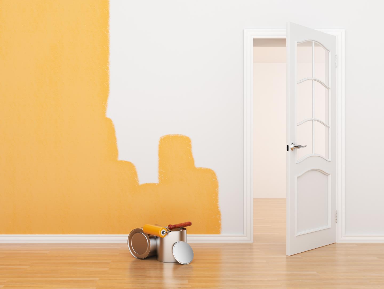 comment peindre sur du papier peint. Black Bedroom Furniture Sets. Home Design Ideas